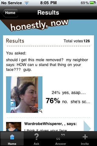 honestly now results