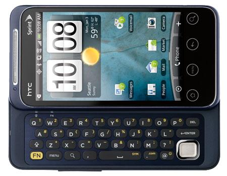 HTC EVO Shift 4G keyboard