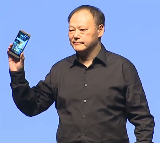 HTC CEO Peter Chou with the new HTC One M9
