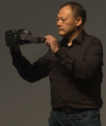 HTC CEO Peter Chou with the new HTC re Vive
