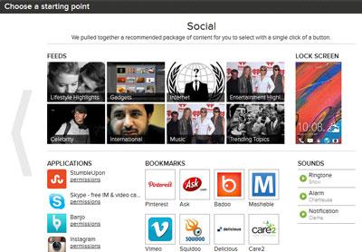 HTC One web-assisted setup