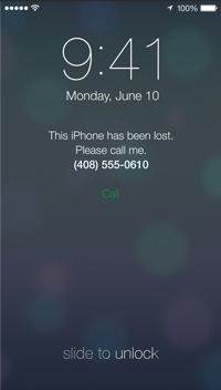 Lost iPhone recovery screen