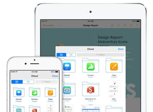 iCloud on iPad and iPhone