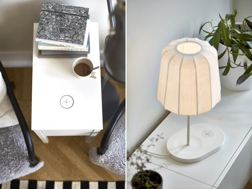 Ikea Qi wireless charging furniture