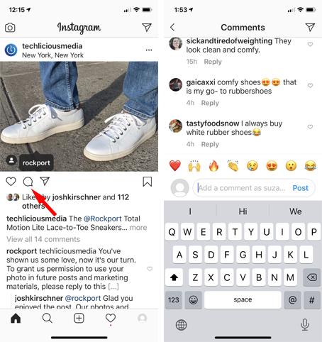Comentario de Instagram