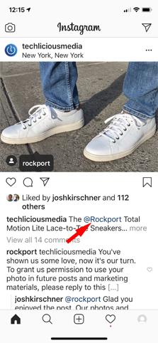 Publicación etiquetada en Instagram