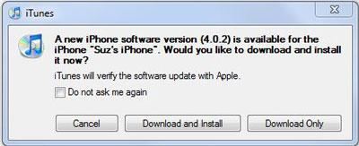 Apple iOS 4.0.2 install