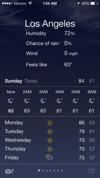 iOS 7 Weather App