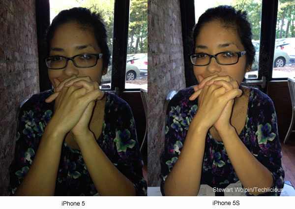 iPhone 5 vs iPhone 5S skin tone comparison