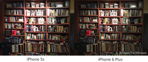 iPhone 6 Plus vs. iPhone 5s with flash