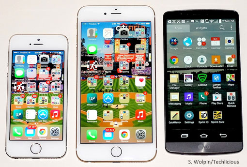iPhone 6, iPHone 6 Plus, LG G3