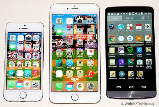 iPhone 6, iPHone 6 Plus, LG G3