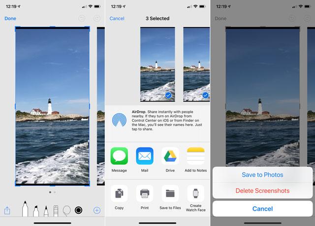 iOS 12 screenshot tool