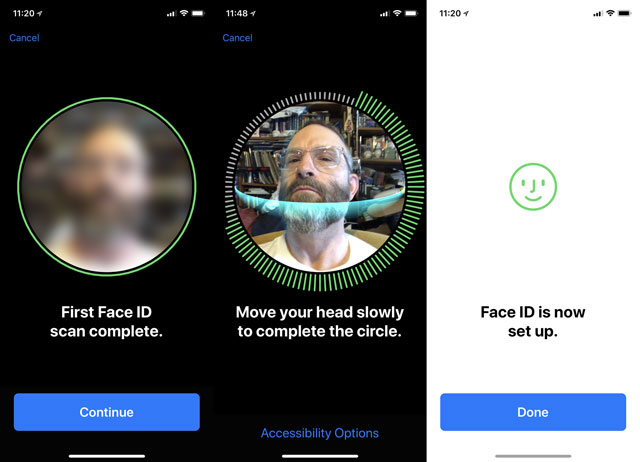 Set up Face ID