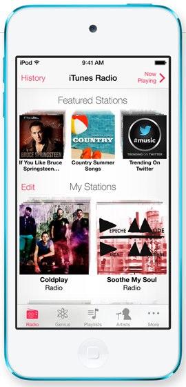 iTunes Radio, new in iOS 7