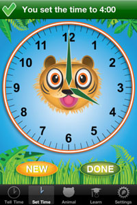 Jungle Time: Learn How to Tell Time
