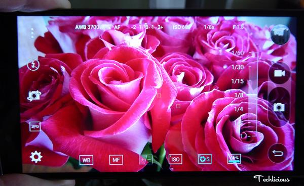 LG G$ manual camera mode