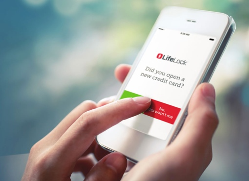 Lifelock on a smartphone