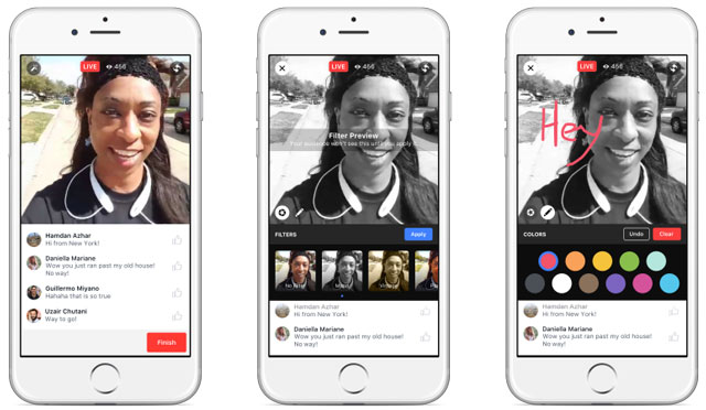 Facebook Live Video Creative Features