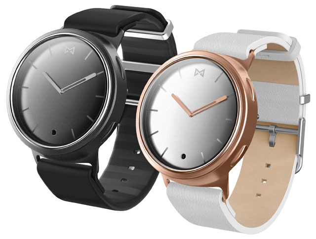 The Misfit Phase  is available in six color options: black and silver, black and rose gold, rose gold, silver, navy and gold, and navy and gray