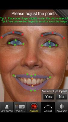 ModiFace face map