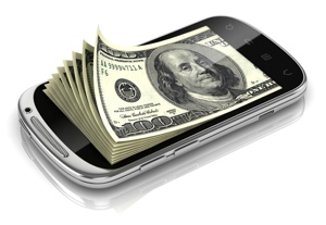 Money inside a smartphone