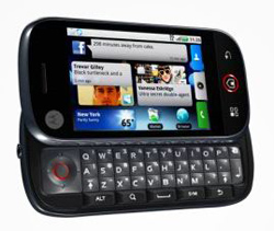 Motorola Cliq open showing keyboard