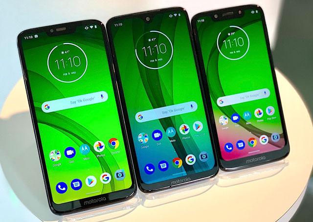 Motorola G7 family of phones