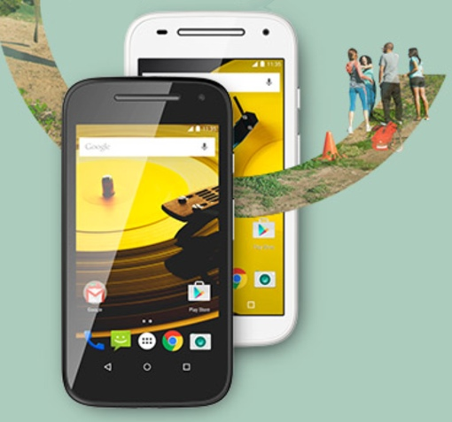 2nd Generation Motorola Moto E in white and black
