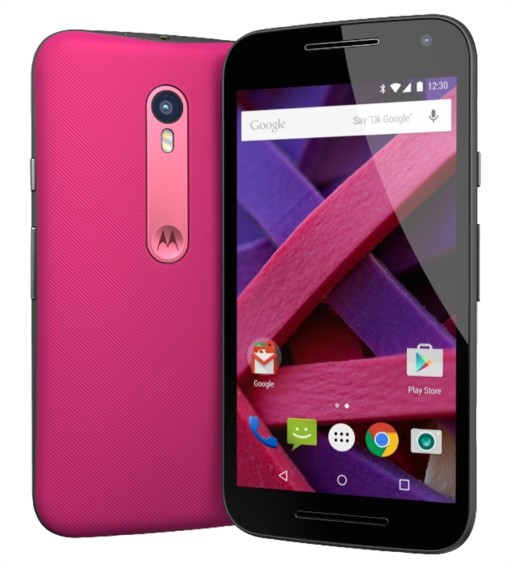 Motorola Moto G (in pink)