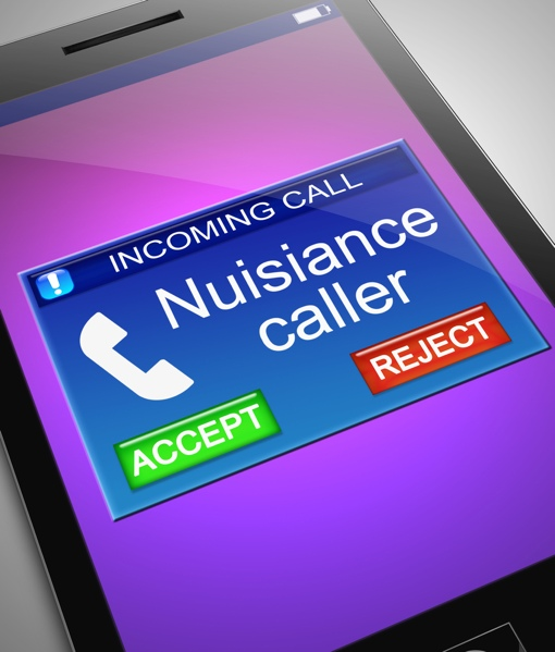 Nuisance caller on cell phone