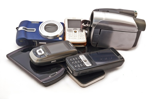 Outdated technology items (phones, cameras)