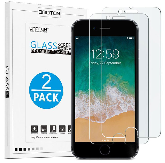 Screen protection: OMOTON 9H hardness HD tempered glass screen protector