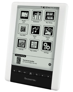 Pandigital Novel Personal eReader main