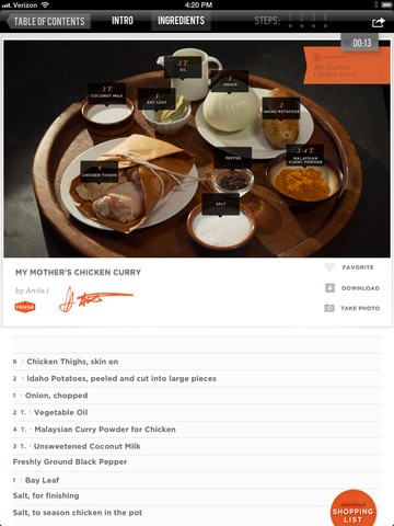6 best cooking apps for your kitchen tablet techlicious best magazine style cooking app panna forumfinder Images