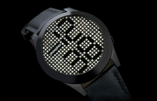 swarovski crystal digital display for watches techlicious phosphor reveal men s watch