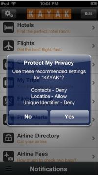 Protectmyprivacy app screenshot