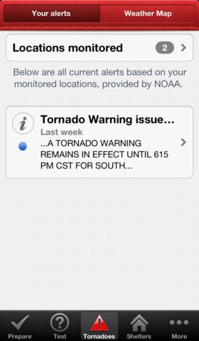 Tornado app by Red Cross