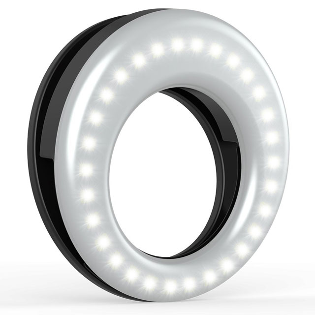 Auxiwa clip-on selfie ring light