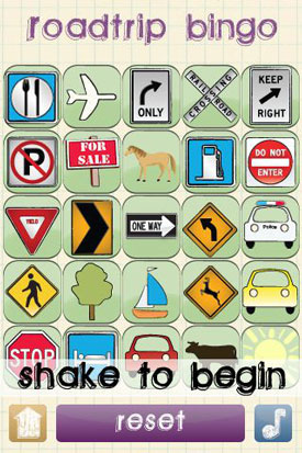 Roadtrip Bingo app
