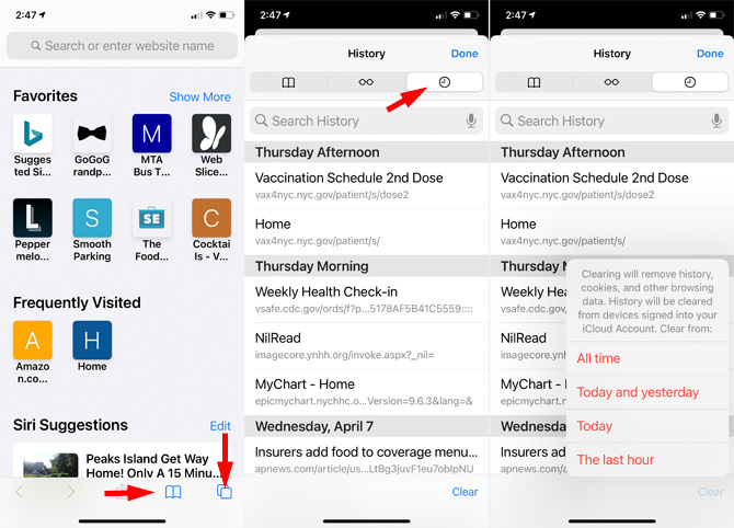 How to delete iPhone search history if you use the Safari browser