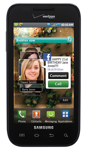 Samsung Fascinate front