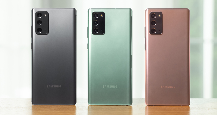 Samsung Galaxy Note20 Colors