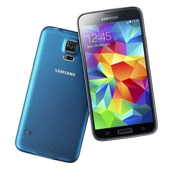 Blue Samsung Galaxy S5