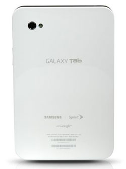 Samsung Galaxy Tab for Sprint back