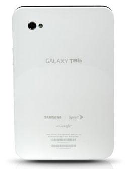 Samsung Galaxy Tab for Sprint back