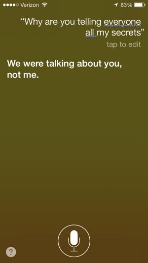 Siri in iOS 7