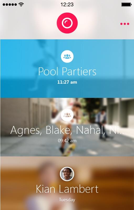 Skype Qik app screenshot iOS