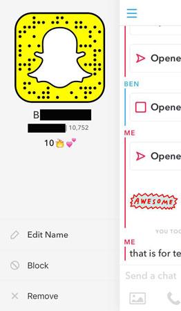Snapchat Friend Stats