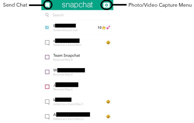 Snapchat Friends Menu